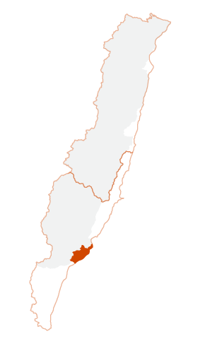 Location of Taitung City