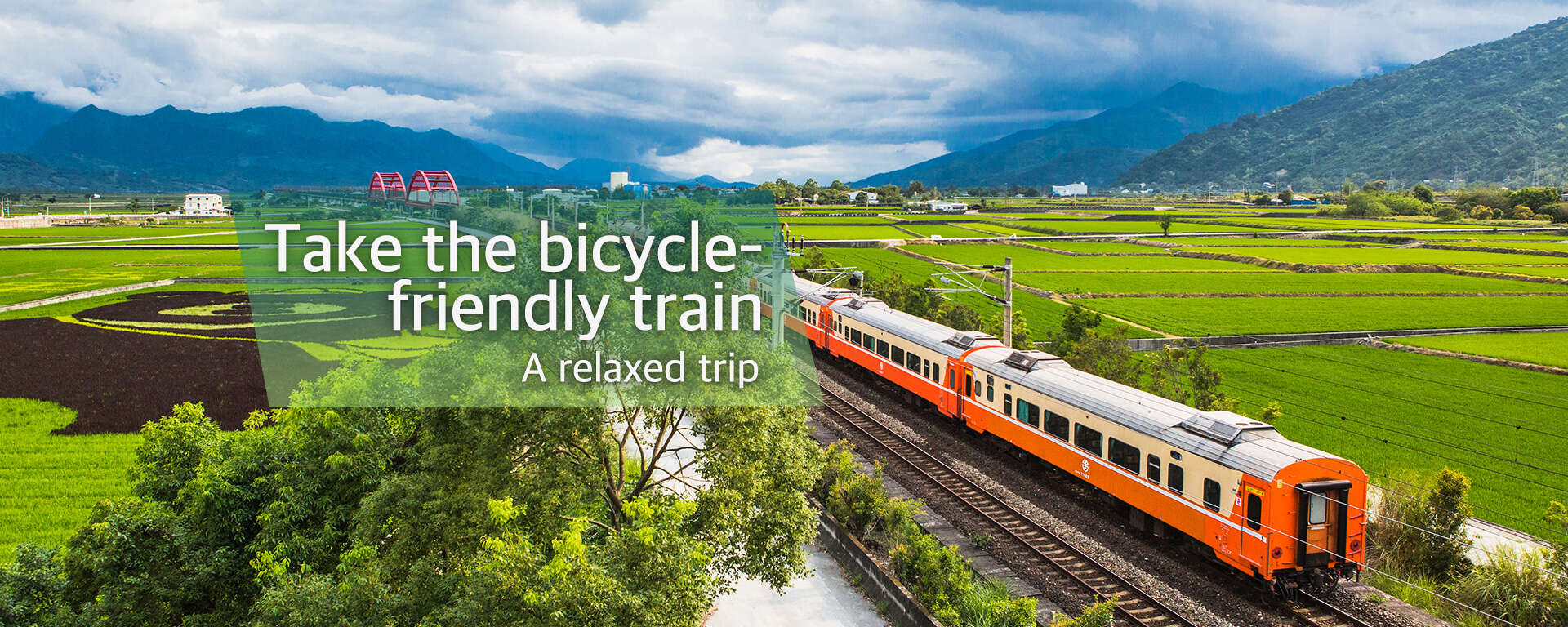 Take the bicycle-friendly train